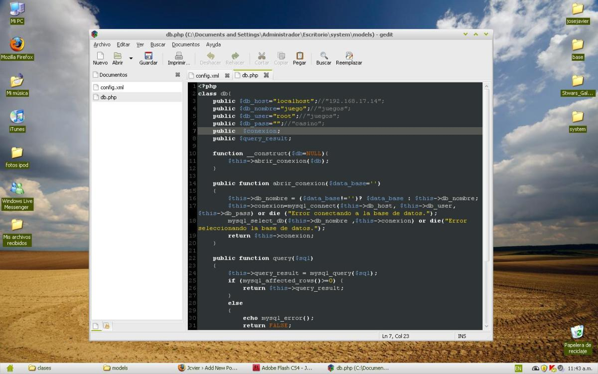 gedit instalado en windows xp